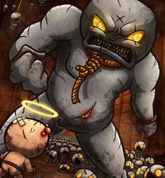 Isaac VS Ultra Greed by Sawuinhaff
