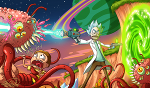 Rick and Morty by Sawuinhaff