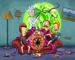 Rick and Morty X Beavis and Butthead