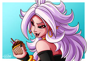 Android 21 (Evil) by Sawuinhaff