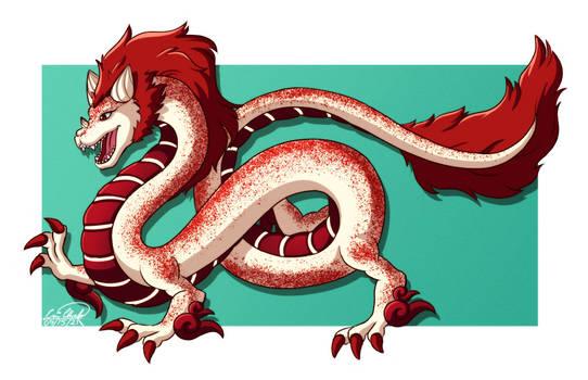 Red Velvet Cake Dragon