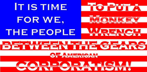 Anti-Corporatist American Flag by OhgunAwakenedProdigy