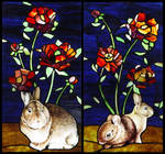 Rabbits and Roses by indeestudios