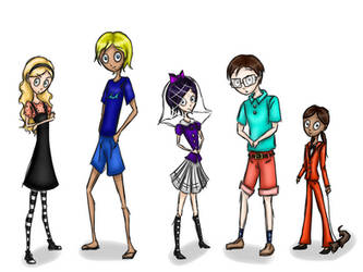 School of Fear students by Mikason