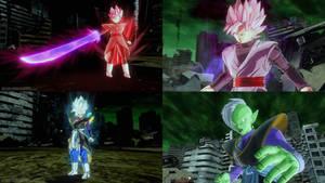 The Divine Goddesses Vs Goku Black and Zamasu
