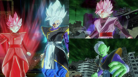 The Divine Goddesses Vs Goku Black and Zamasu V2