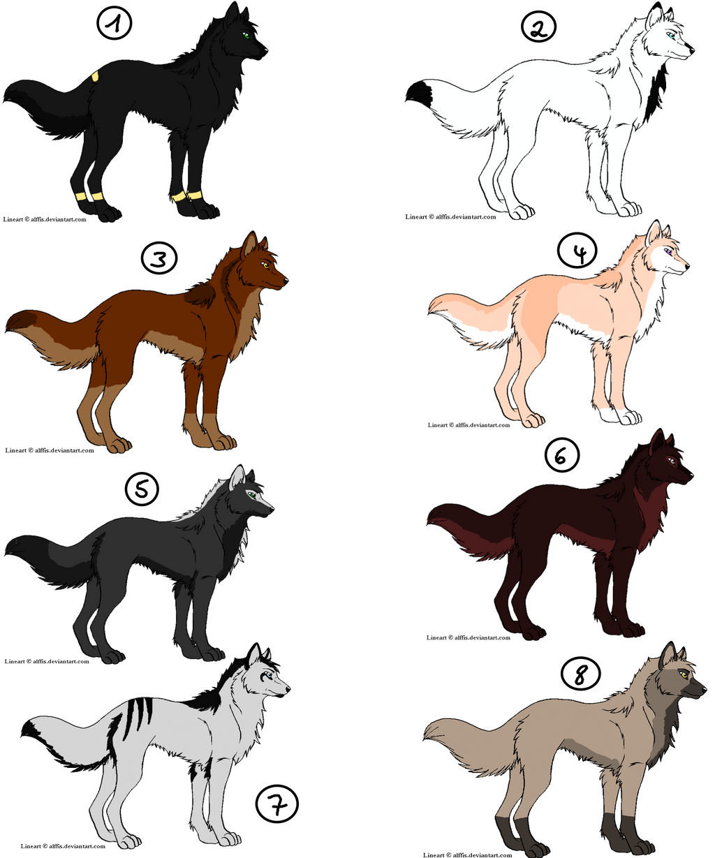 wolf point adoptables ALL SOLD by Ahiku-wolf