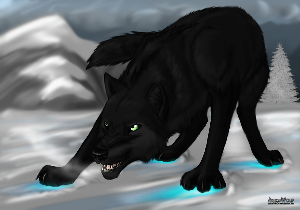 Wolf Lineart : Black wolf lineart by ahikuwolf on deviantart