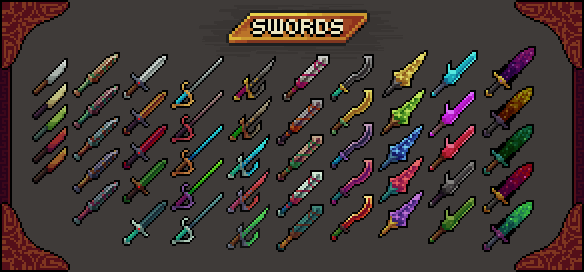 Unity Store - Pixel RPG Icons Pack 1: Swords by PixelWilds