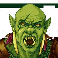Orc Portrait by PixelWilds