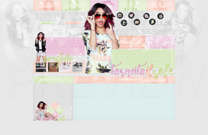 Design for my site ft. Vanessa Hudgens by Helcabu