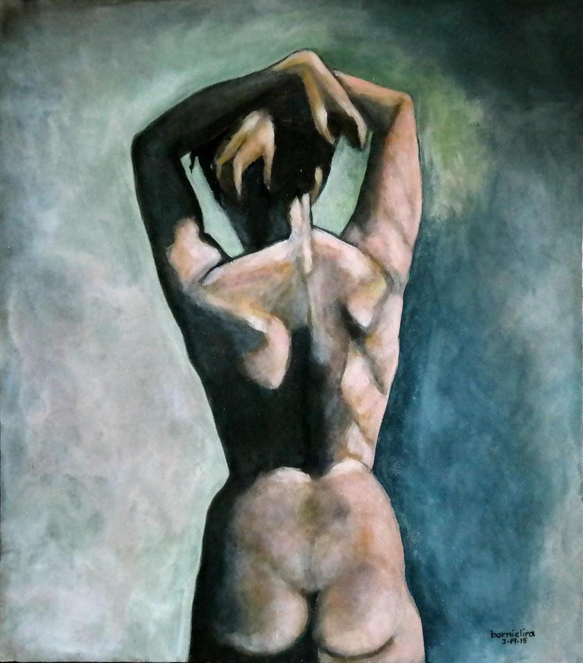 Nude female figure study by ferrari2006extreme
