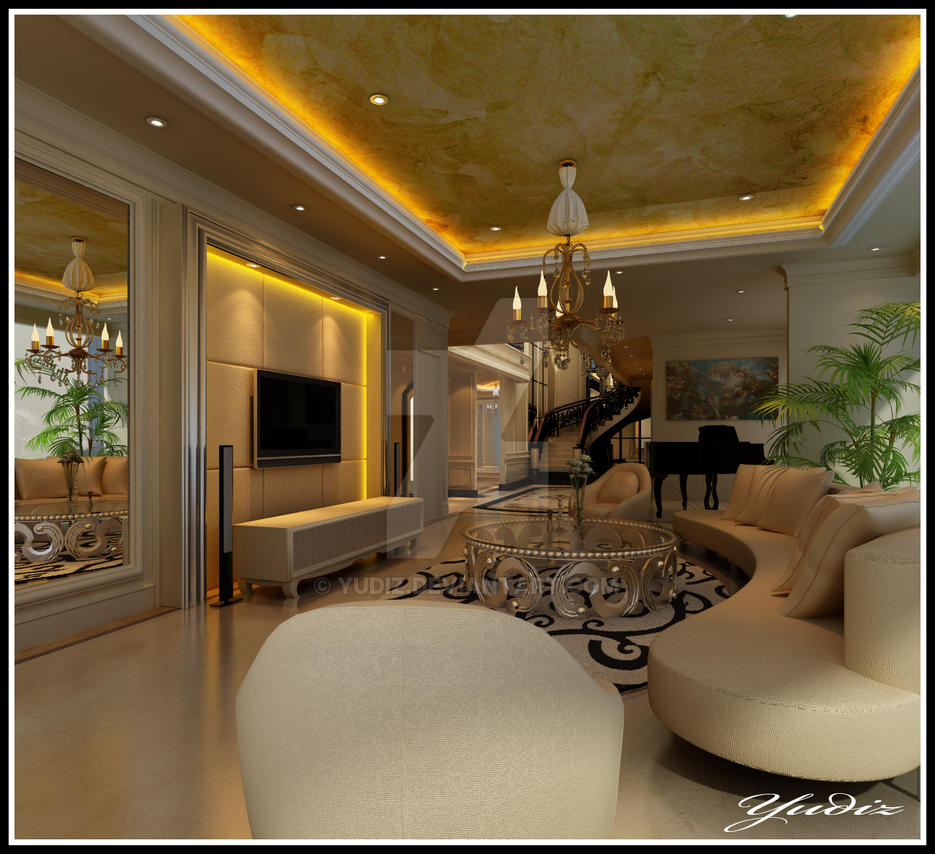 Living Room Classic 3 By Yudiz On DeviantArt