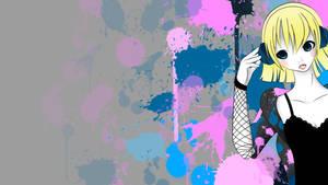 Wallpaper - Music is Art by MerrBakeneko