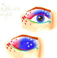 Makeup look Sakura night by Andoien