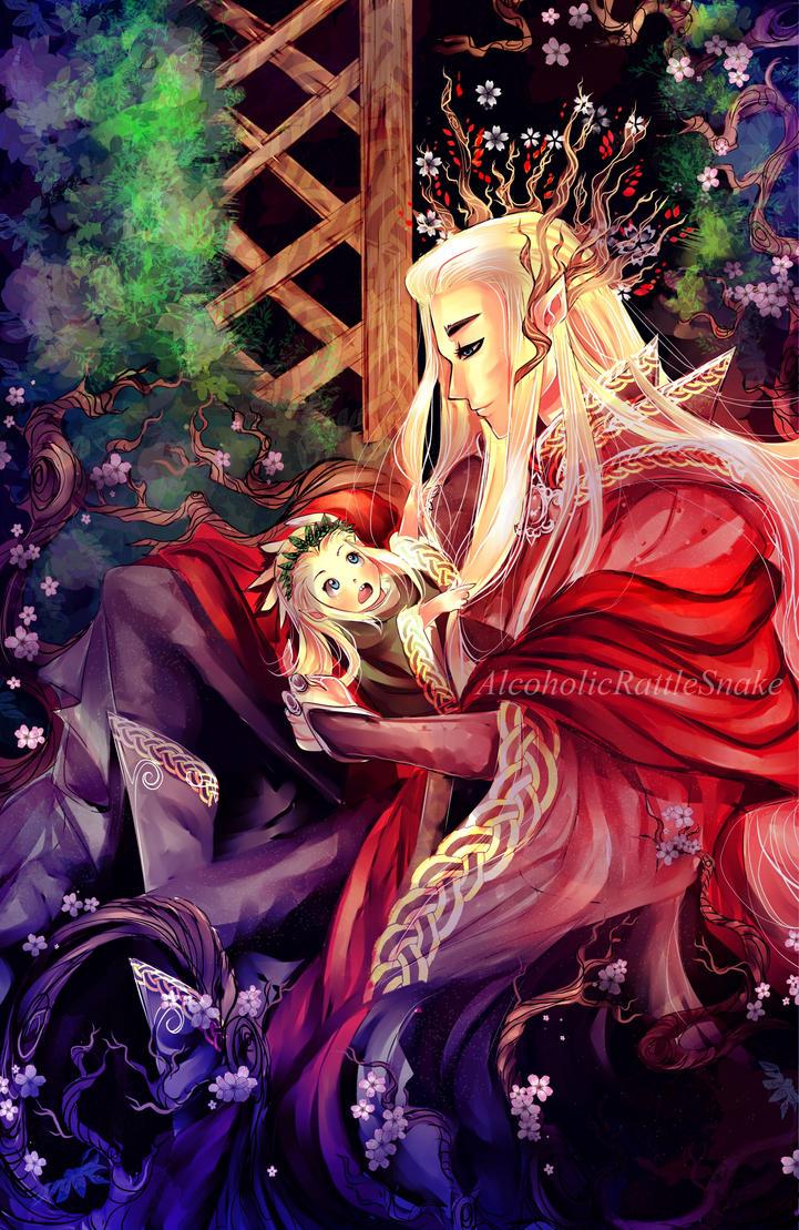 Thranduil and Legolas by AlcoholicRattleSnake