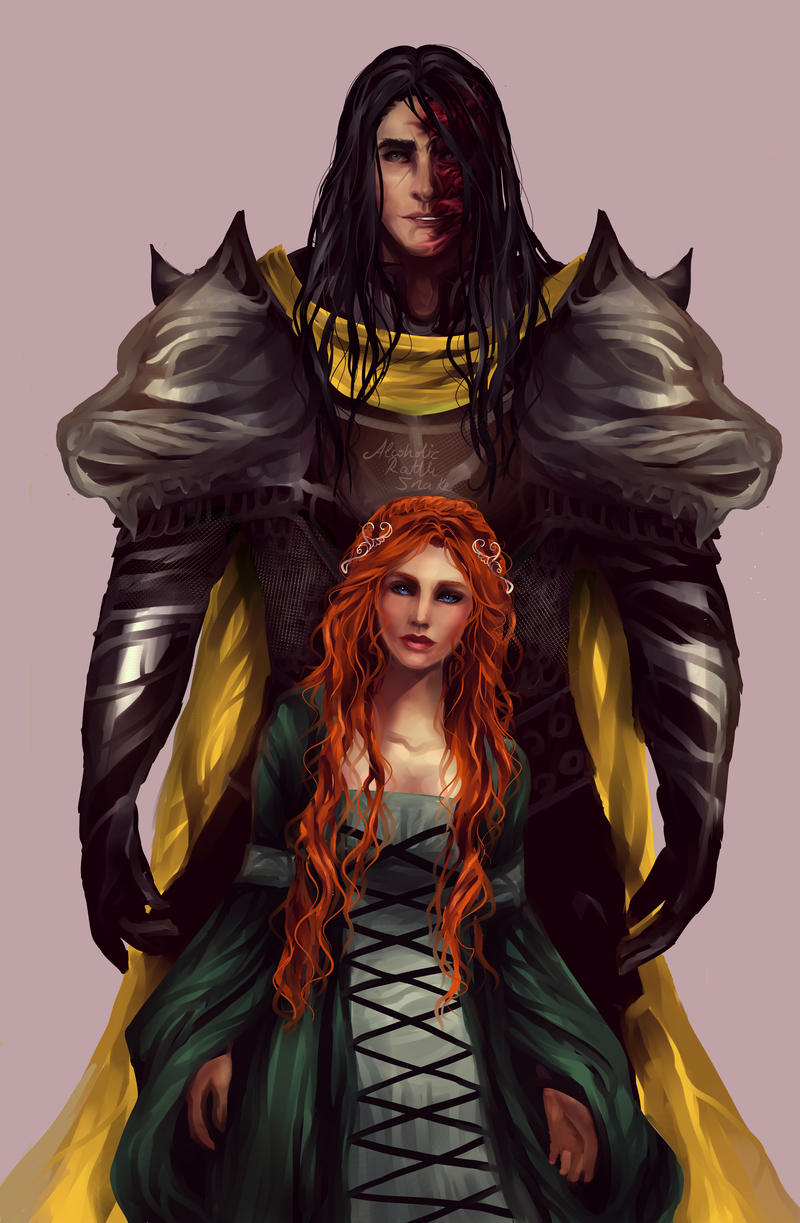 Sansa and Sandor by AlcoholicRattleSnake on DeviantArt