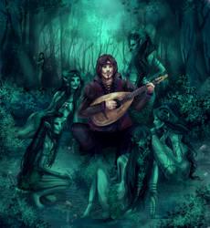 A bard in Brokilon by Luciferys