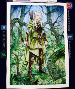 Inktober day 30: Legolas