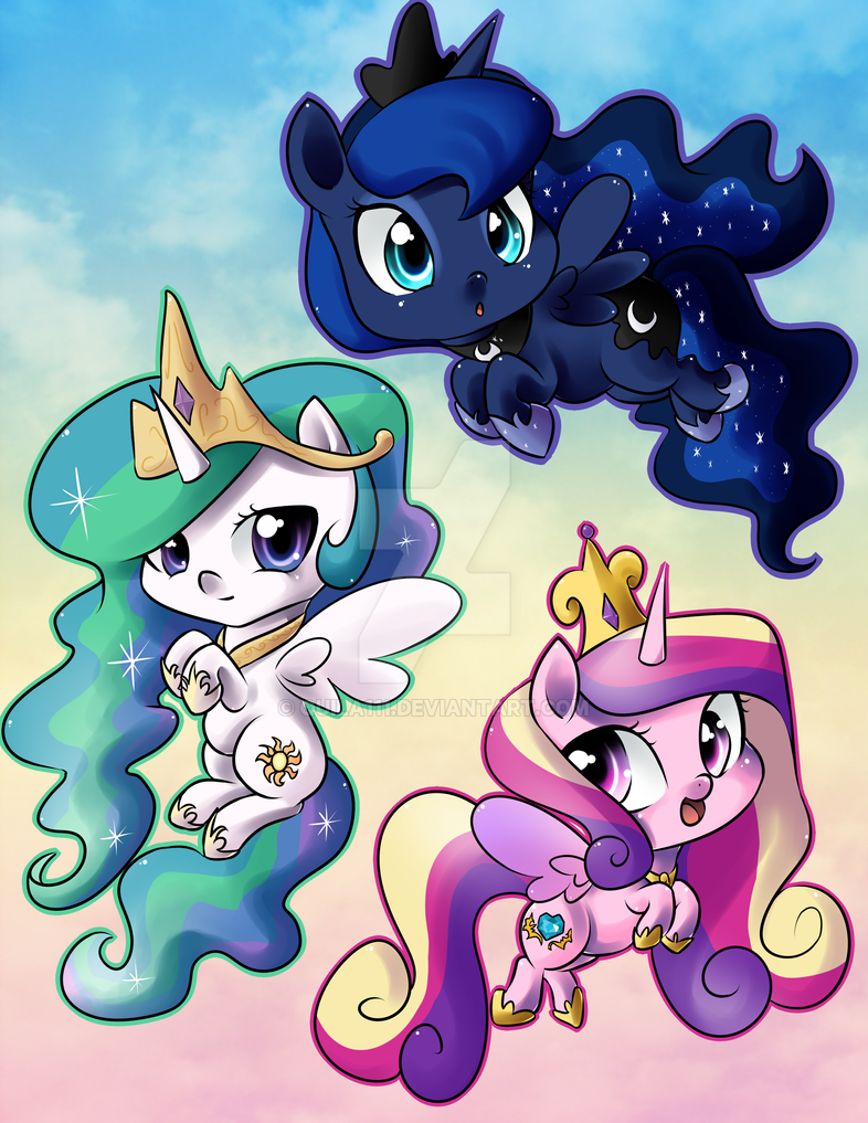 Pwincesses of Equestwia by quila111
