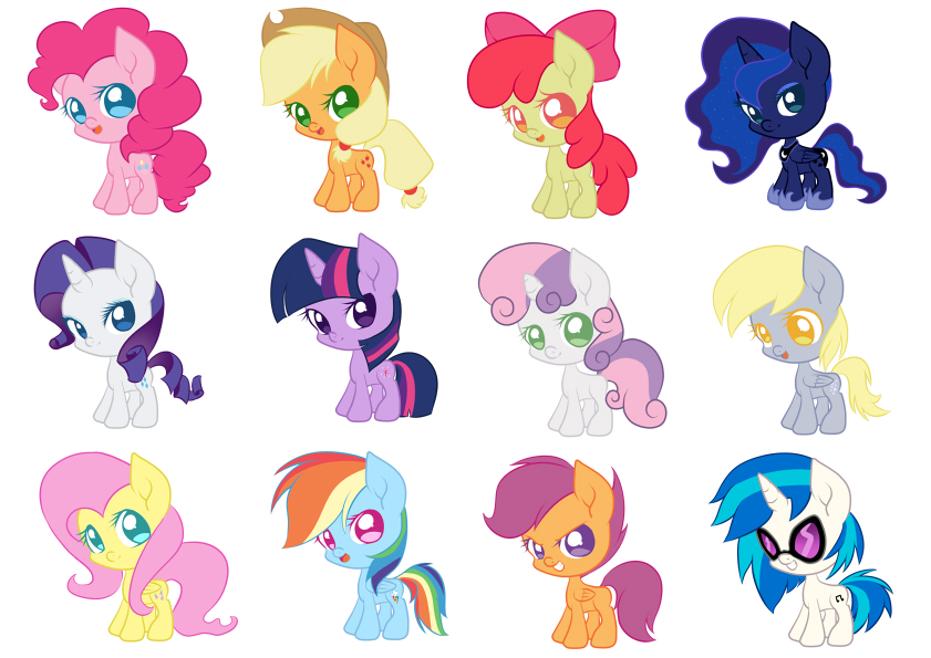 MLP Keychain Designs by quila111