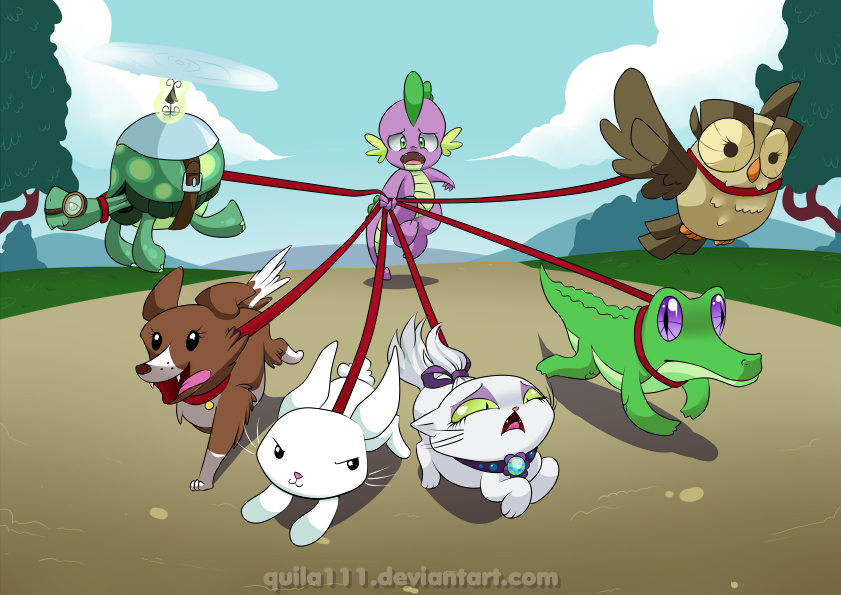 Spike n critters Web by quila111