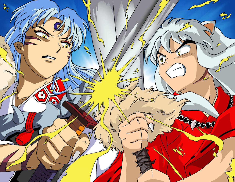 Inuyasha vs sesshomaru daymone by clubinuyasha on deviantart - Sesshomaru inuyasha wallpaper ...