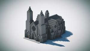 Catedral Minecraft isometrico