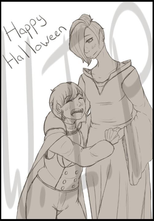 W.I.P: Happy Halloween by xSpiralMoon-Doodlesx
