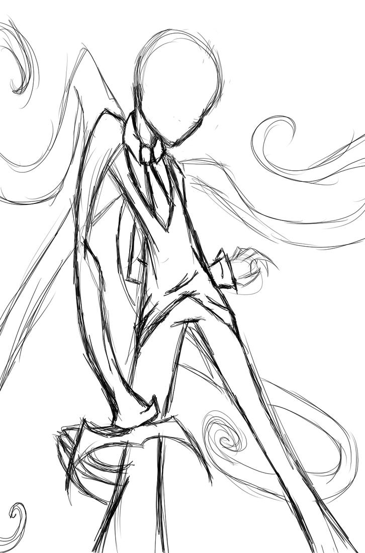 The gallery for slender man pages printable for Slender man coloring pages