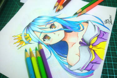 No Game No Life  - Shiro Fanart by VSIIllustrations