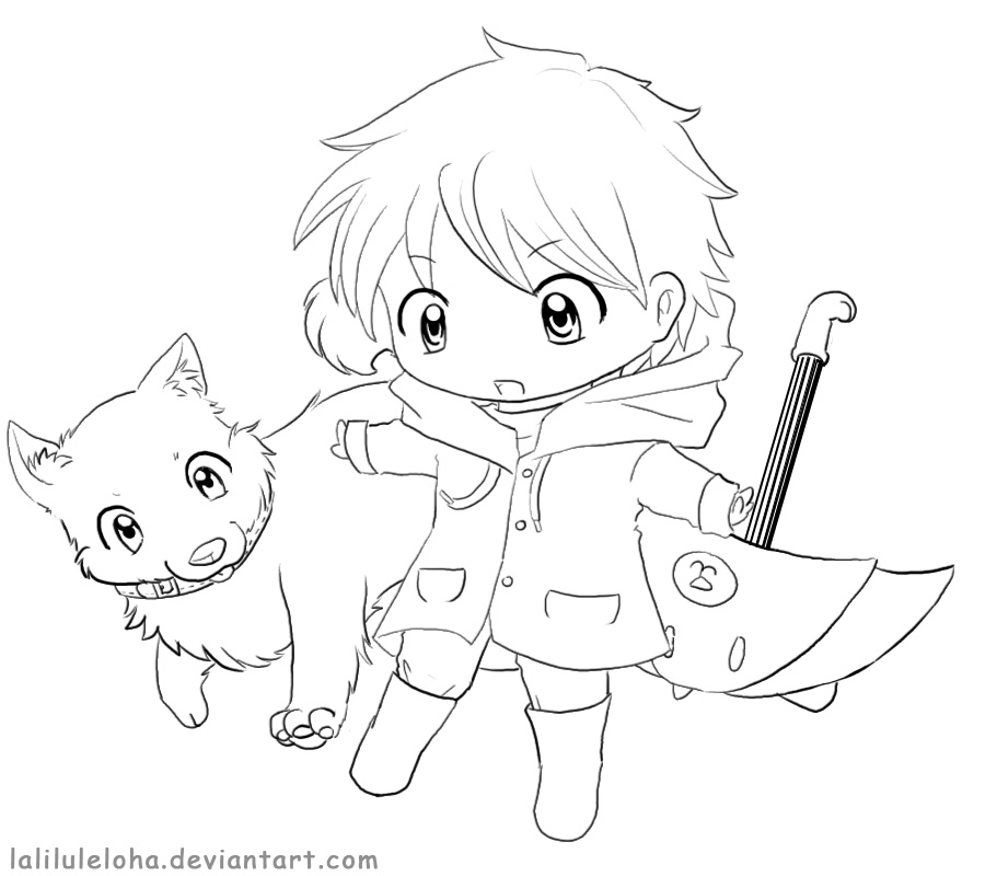 chibi line art allowed to color it by laliluleloha on deviantart