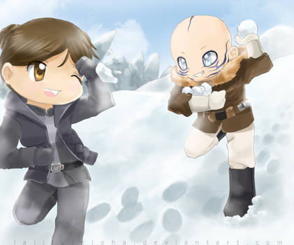 Snowball Fight-- Commission