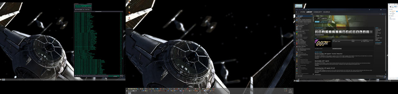 TIE Fighter Desktop by Bagdadsoftware