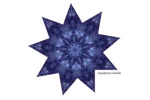 Shuriken Star Pedal Kaleidoscope by CarlosAE
