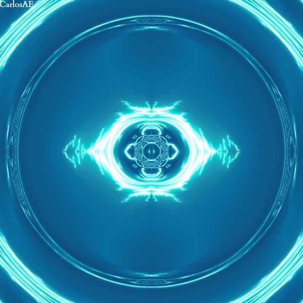 Blue Electrical Fractal Eye by CarlosAE