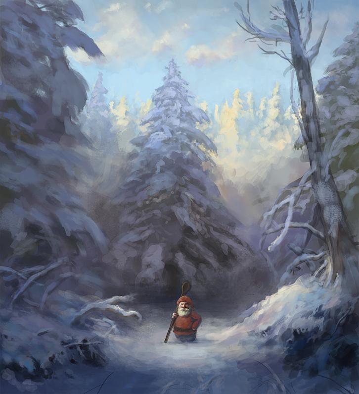 Snowy gnome by JonasJensenArt