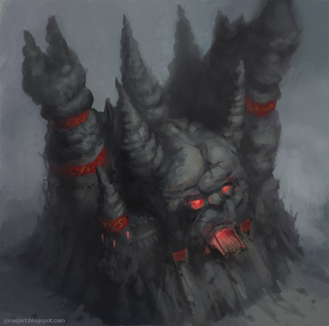 Warcraft 2 Orc Fortress By Jonasjensenart On Deviantart