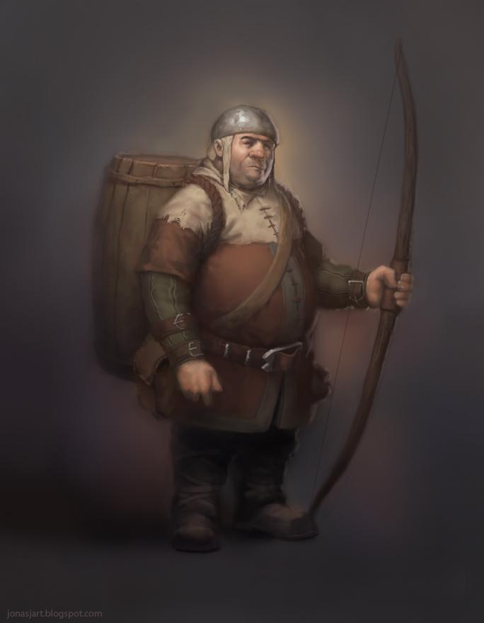 Halfling Archer by JonasJensenArt