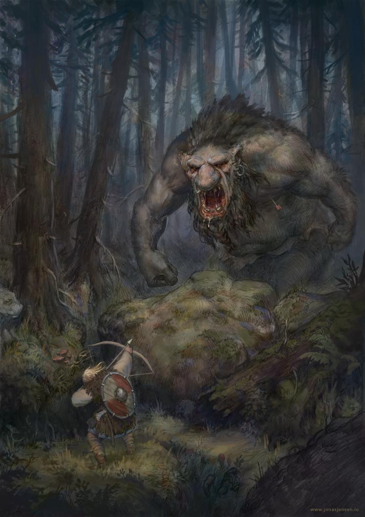 Forest encounter by JonasJensenArt