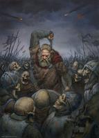Viking vs. skeletons