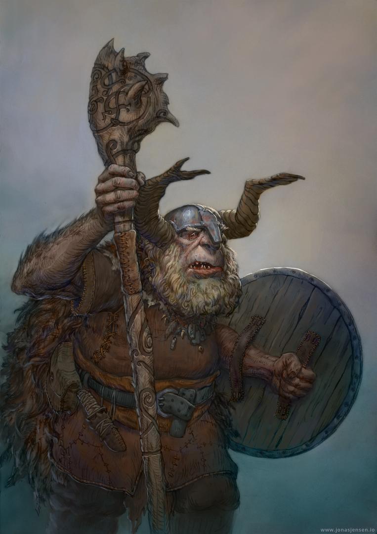 Troll Shaman by JonasJensenArt