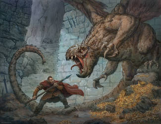 Dragon Treasure by JonasJensenArt
