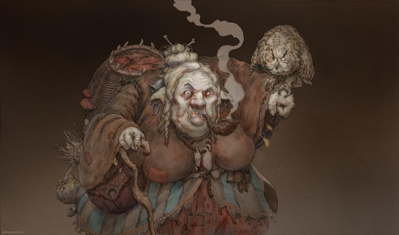 Fat Witch by JonasJensenArt
