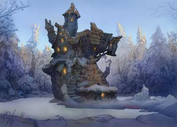 The Hut in the Forest by JonasJensenArt