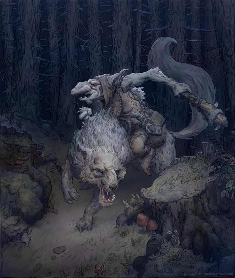 Wolf Rider by JonasJensenArt