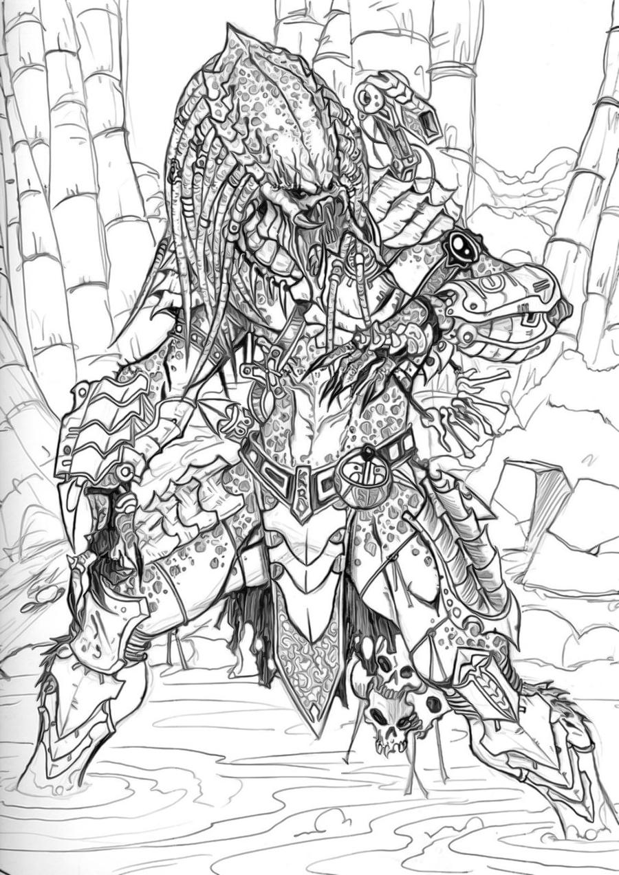 predator coloring pages - photo#23