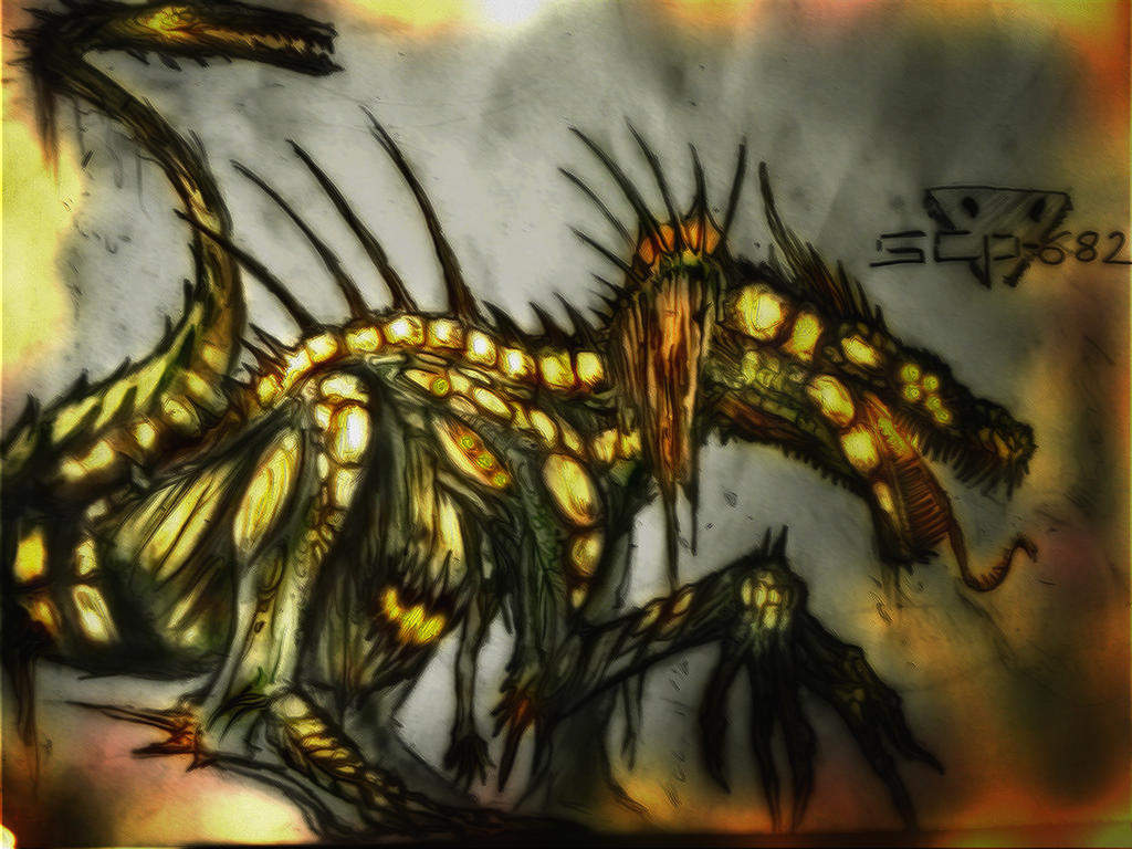 Scp 682 Hard To Destroy Reptile Second Version by Xeno-Crazy