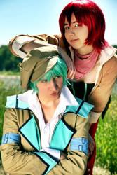 Teasing duo by SakuraShinawa