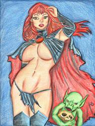 Goblin Queen Sexy Pin up by Shondrasu